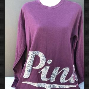 Victoria's Secret PINK Bling XS/S Long Sleeve Top